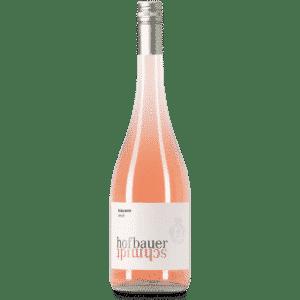 Eine Flasche Frizzante Rosé