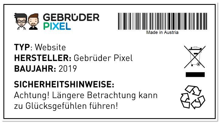Typenschild von www.gebruederpixel.at