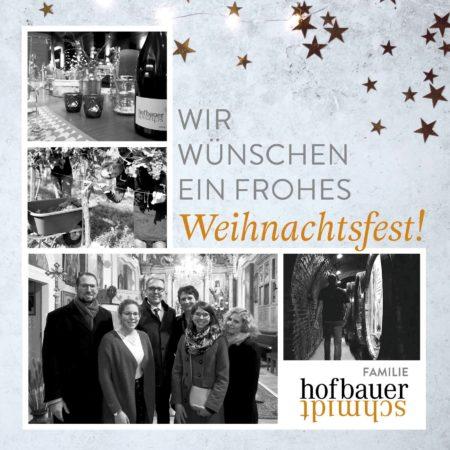 Weihnachtspost aus dem Weingut Hofbauer-Schmidt